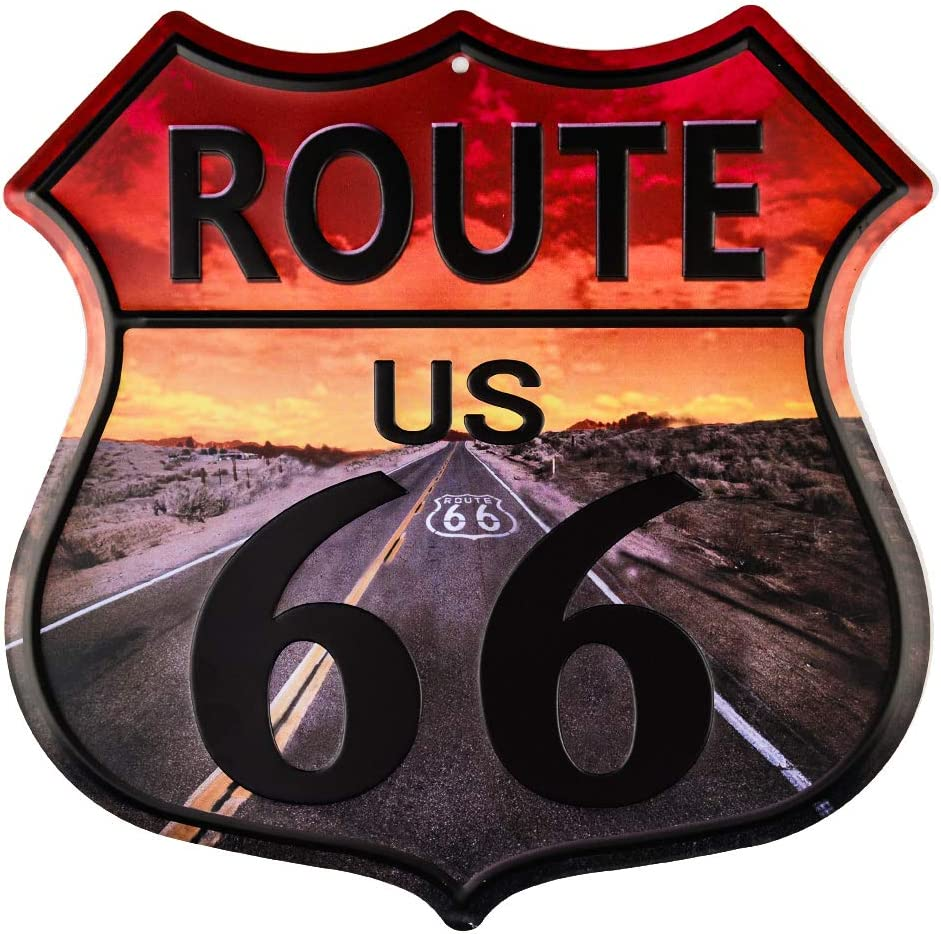 dojune-Vintage Home Decor Route 66 Highway Shield Wholesale Metal Sign