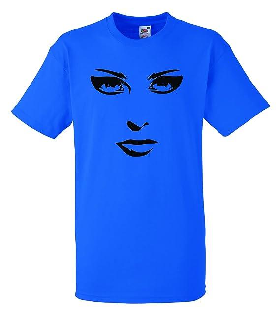 Mujer Cara - 100% algodón hombre Fruit of the Loom camiseta personalizadas impresas de Crazy ropa Azul azul real XXX-Large: Amazon.es: Ropa y accesorios