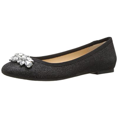Jewel Badgley Mischka Women's Cabella Ballet Flat, black, 10 M US | Flats
