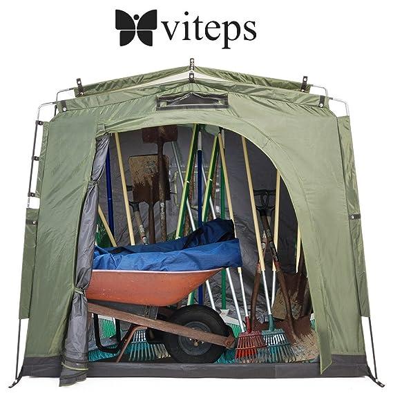 Tienda para exterior para guardar bicicletas y ahorrar espacio, lugar de almacenamiento para jardín y piscina, equipamiento al aire libre, herramientas de ...
