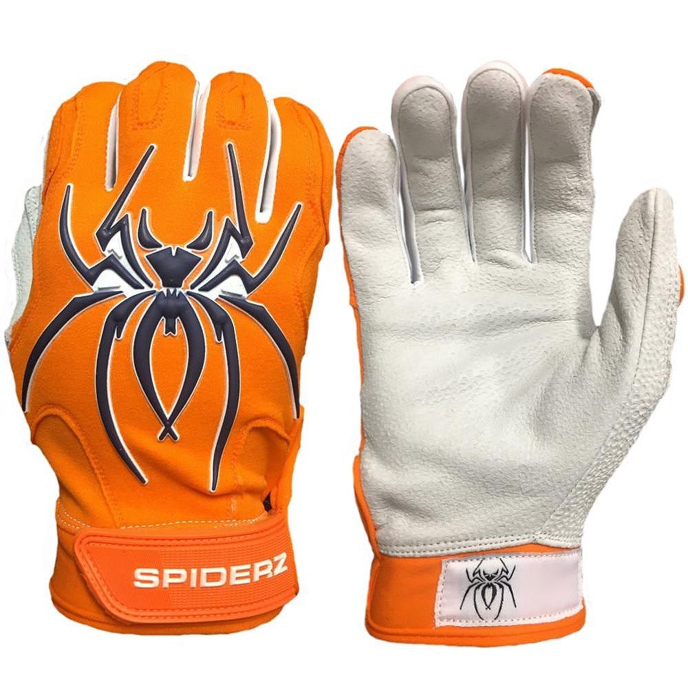 Spiderz大人用enditeバッティンググローブPremium Textured 1 PieceレザーPalm B07BZZLMR9 Medium オレンジ/ネイビー オレンジ/ネイビー Medium