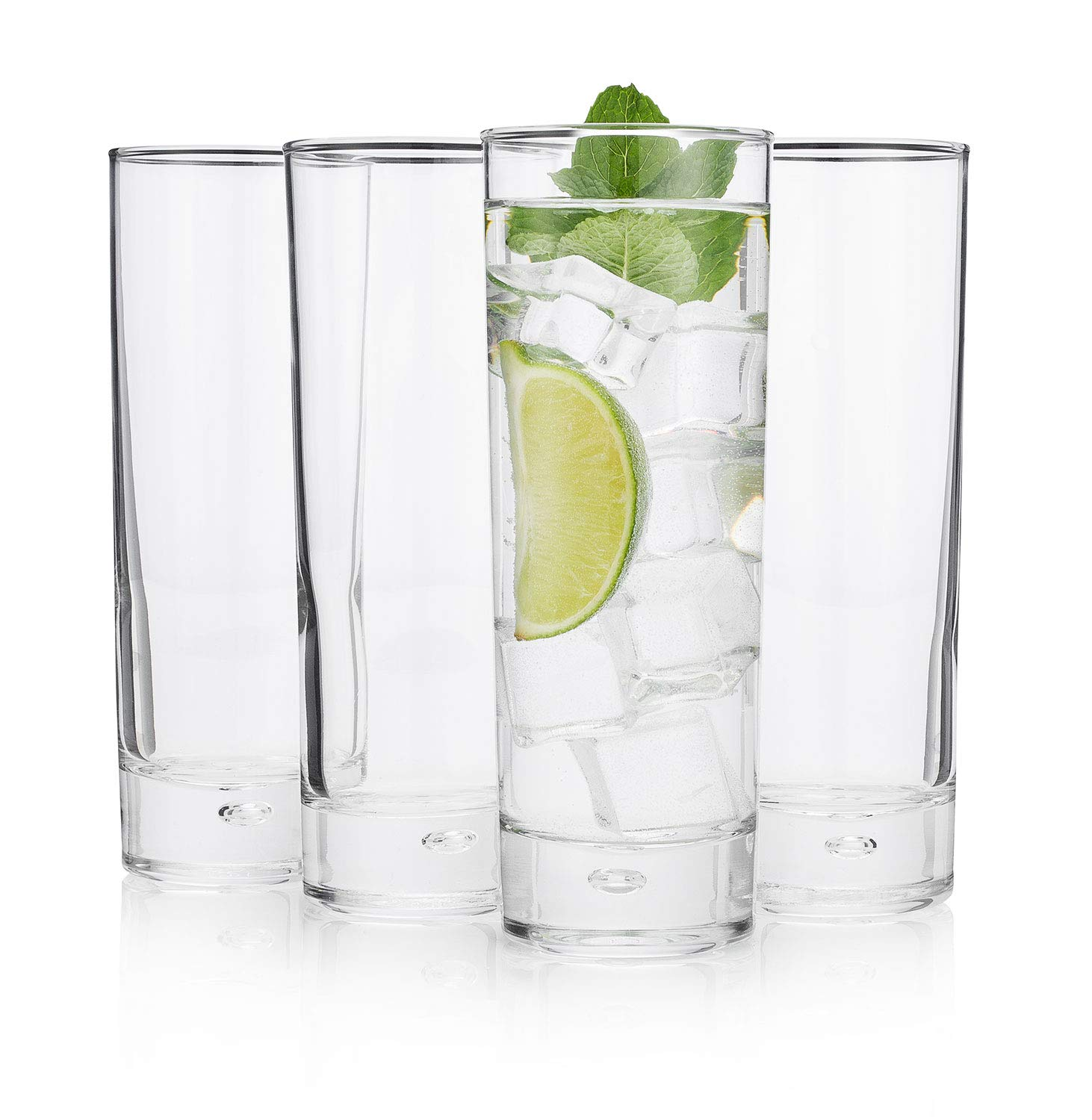 The Best''New York Long Drink'' Highball Glass, (Cocktail Party Set of 4)