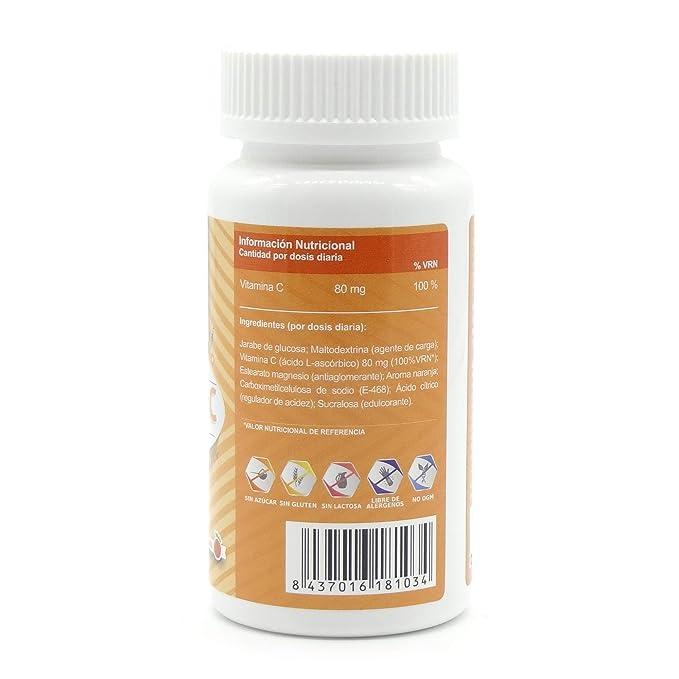 Vitamina C pura microencapsulada para niños - Mantiene las defensas fuertes, protege la piel y mantiene sano el sistema inmunológico - Deliciosos ...