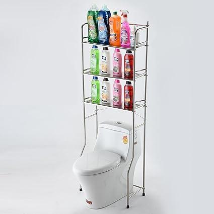 DEKDEJIA Bathroom Shelf 3-Tier Stainless Steel Toilet Towel Storage ...