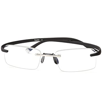 9eb29551a49 Reading Glasses Flexible Rimless Men Women Computer Blue Light Blocking  Glasses Filtering Square Frame Best Computer
