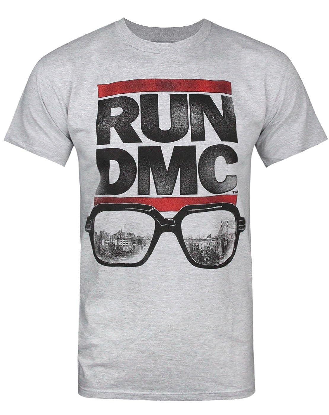 96d49974 Amazon.com: Official RUN-D.M.C Glasses Men's T-Shirt: Clothing