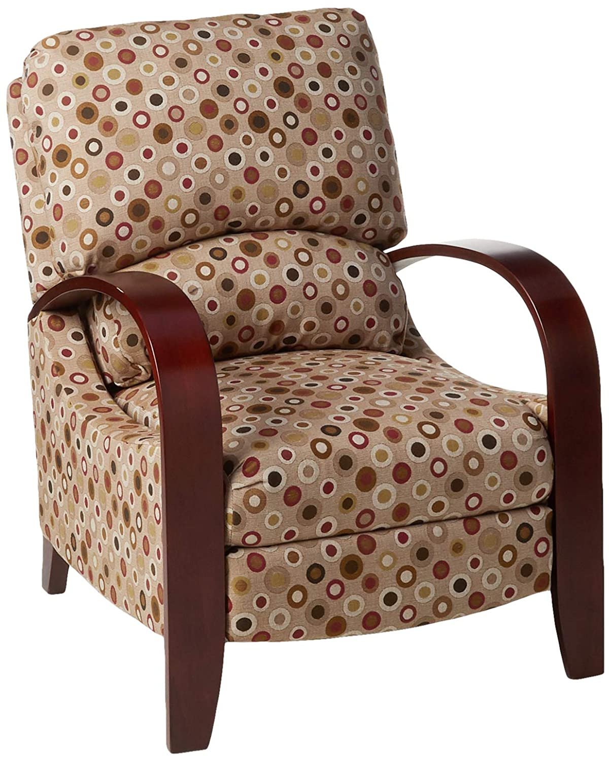 Astonishing Madison Park Archdale Recliner Chair Solid Wood Plywood Deep Seat Accent Armchair Modern Classic Dotted Style Family Room Sofa Furniture See Below Unemploymentrelief Wooden Chair Designs For Living Room Unemploymentrelieforg