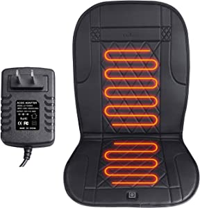 KINGLETING Heated Seat Cushion with Pressure-Sensitive Switch,Heat Seat Cover for Home, Office Chair and More