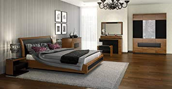 Schlafzimmer Komplett - Set E Postira, 9-teilig, teilmassiv, Farbe ...