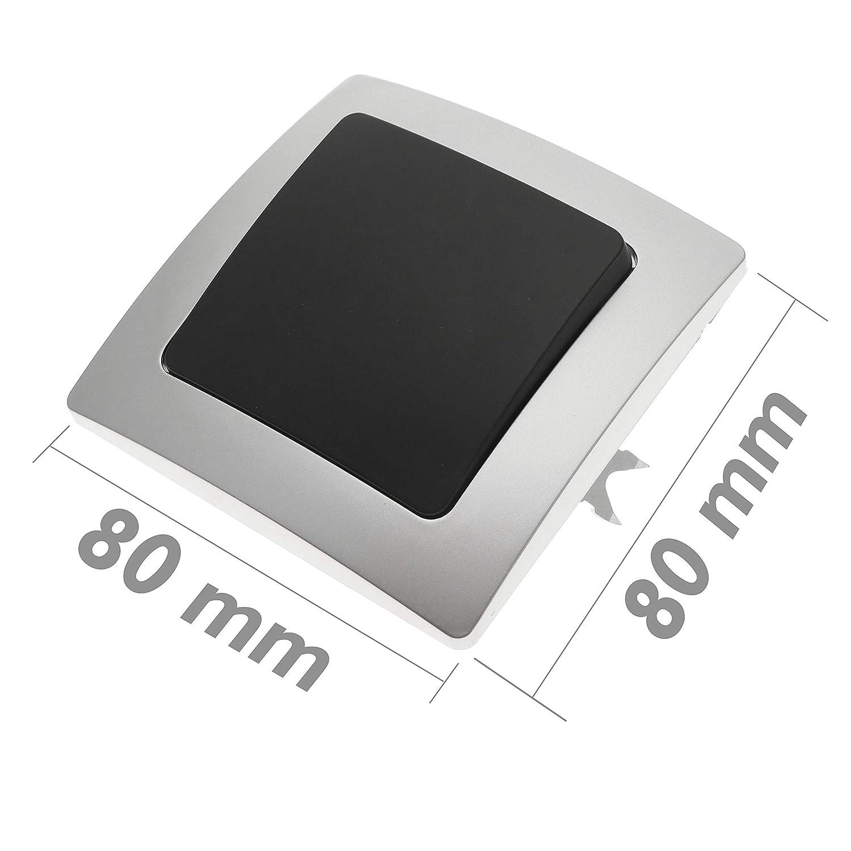 Regulador de luz empotrable con Marco 80x80mm Serie Lille de Color Blanco BeMatik