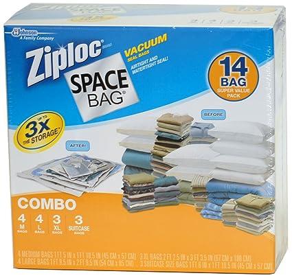 SC Johnson Ziploc- Bolsas de Almacenamiento al vacío para ...