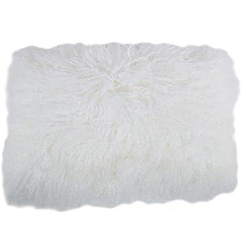 Amazon.com: SNUGRUGS largo rizado de Mongolia lana de oveja ...