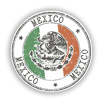 Amazon.com: 2 x Mexico Pegatinas de Vinilo Equipaje de viaje ...