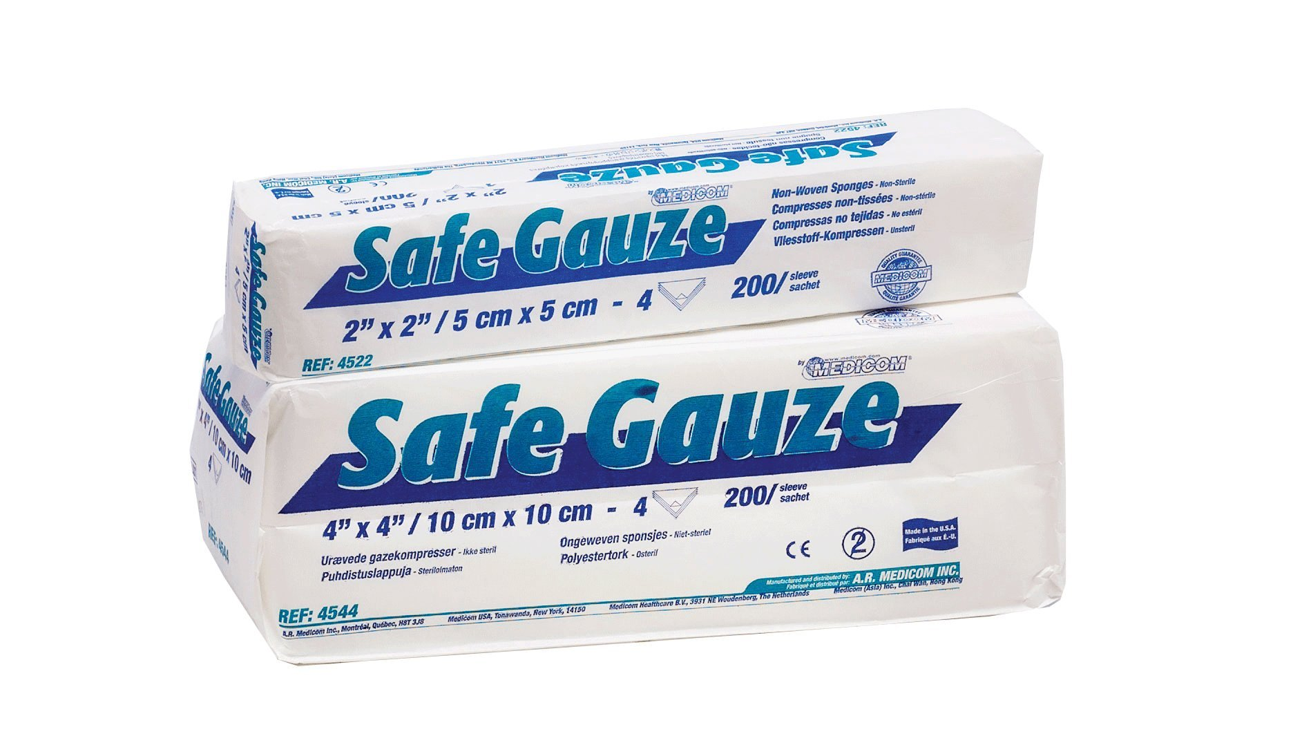 Medicom 4522 Safe-Gauze 2x2 NW 4 Ply 4000/Cs