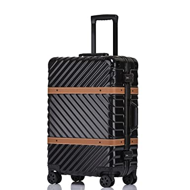 Unitravel Vintage Suitcase Fashion PC ABS Luggage Rolling Spinner Lightweight With TSA Lock