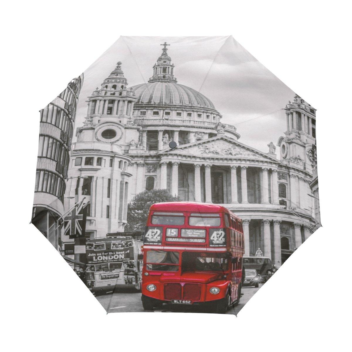 Senya Saobao防風と防雨トラベル傘自動開いて閉じFoldingロンドン旅行のバスポータブル折りたたみ式太陽雨傘   B07FLRMCWN