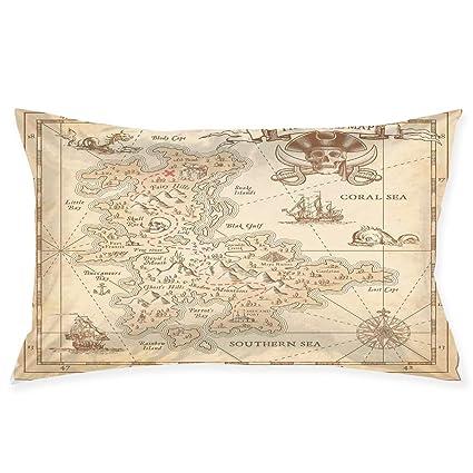 Amazon.com: YABABY Funda de almohada, diseño de silueta ...