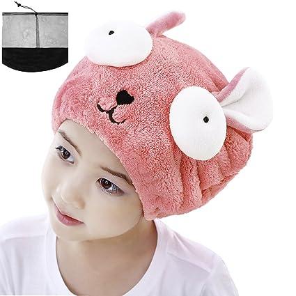 Gorro toalla. Gorro turbante toalla para niñas. Muy absorbente. Bonito diseñ
