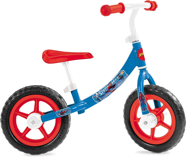 Mondo Toys Spiderman Balance Bike - Bicicleta sin Pedales para niños - Peso hasta 25 kg - Color Blanco/Azul/Rojo - 28501.