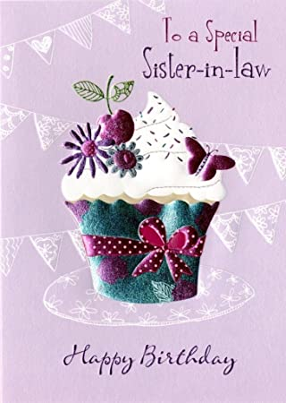 Amazon Special Sister In Law Birthday Greeting Card Second