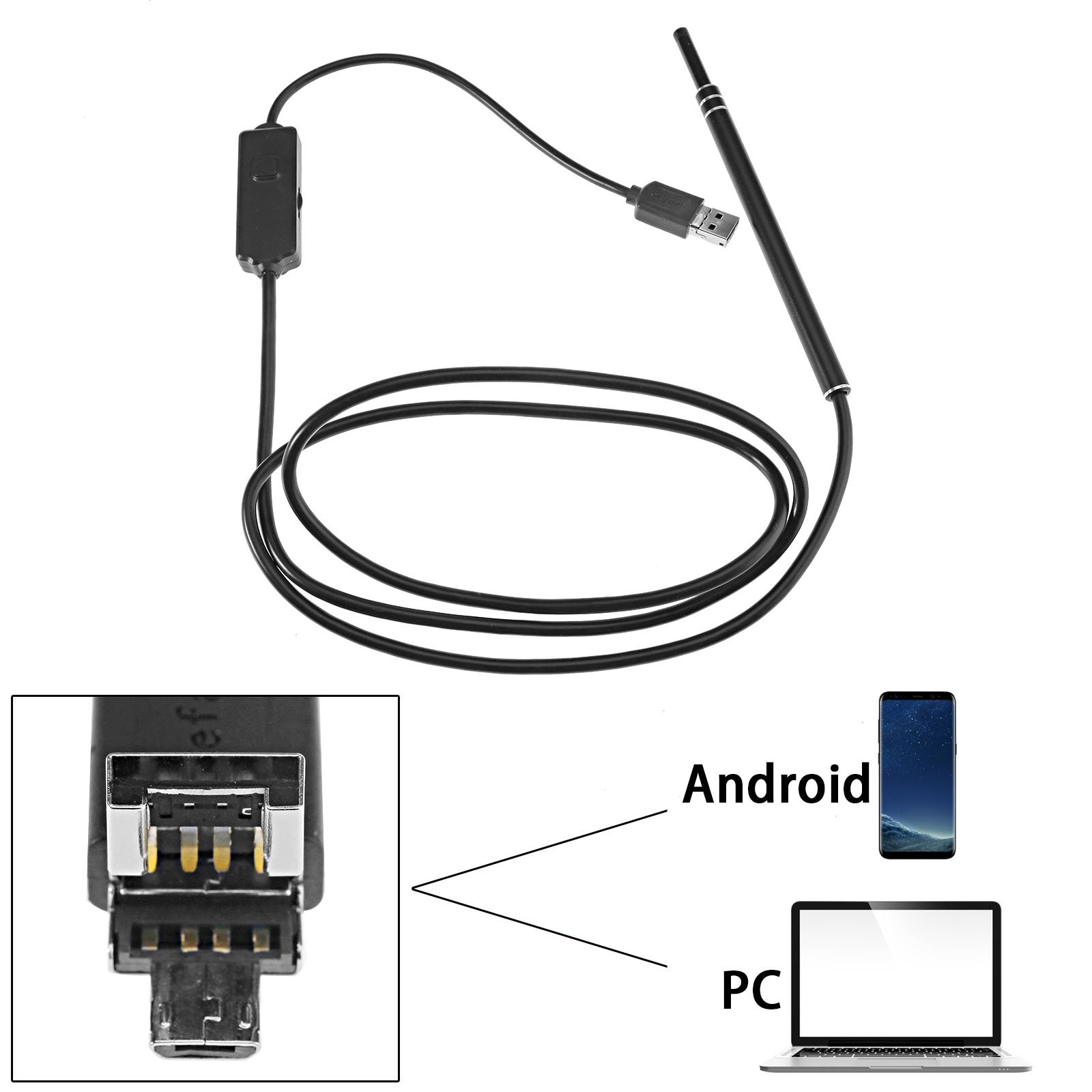 USB Ear Cleaning Endoscope with Mini Camera Ear Cleaning Tool Visual Earpick