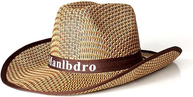 Hombres Sombreros Panamá Plegable de Paja Ala Ancha Gorro de ...
