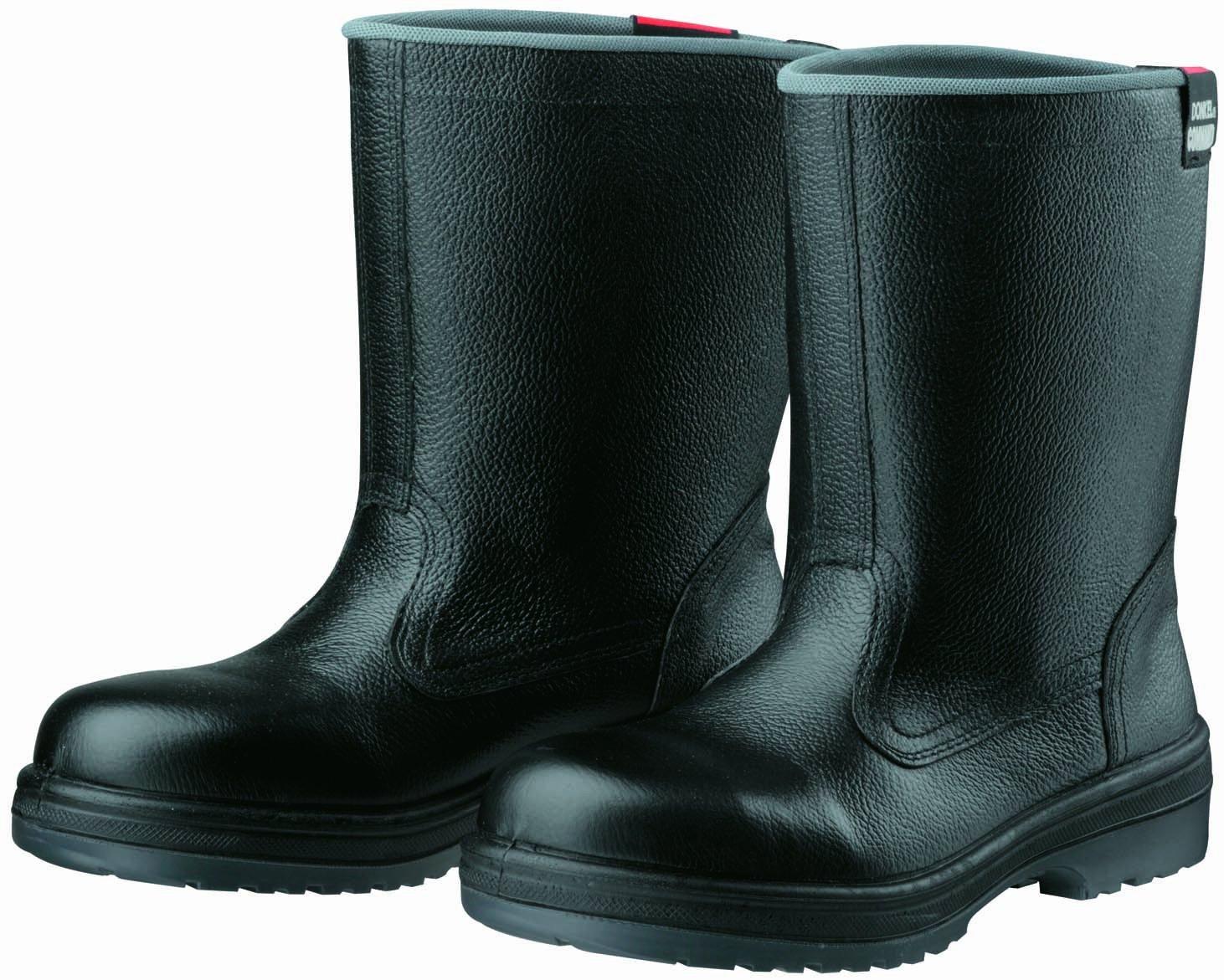 [ドンケル] 安全靴 半長靴 ラバー2層底 耐滑 耐延焼 JIS T8101革製S種EF合格 R2-06  R2-06 B00CW6QROI 27.0 cm|ブラック