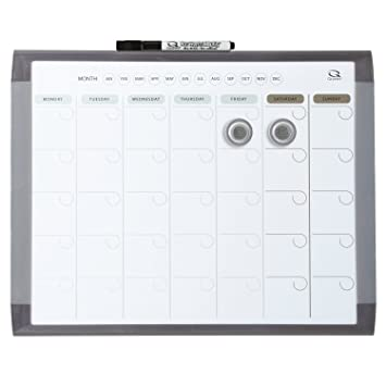 Quartet 1 Month Calendar and Magnetic Dry Erase Whiteboard ...