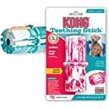 KONG Puppy Teething Stick Dog Toy, Medium, Assorted Pink/Blue