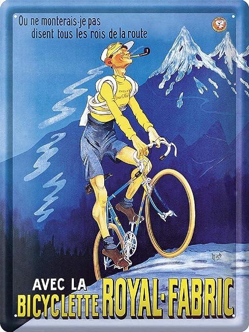CLO Placa de Pared de Metal francés de la Marca Bicicleta, 30 x 40 ...