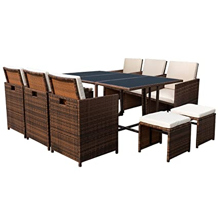 Devoko Rattan Sectional Garden Patio Furniture Sets Clearance All Weather  Wicker Porch Furniture Sets Sofa