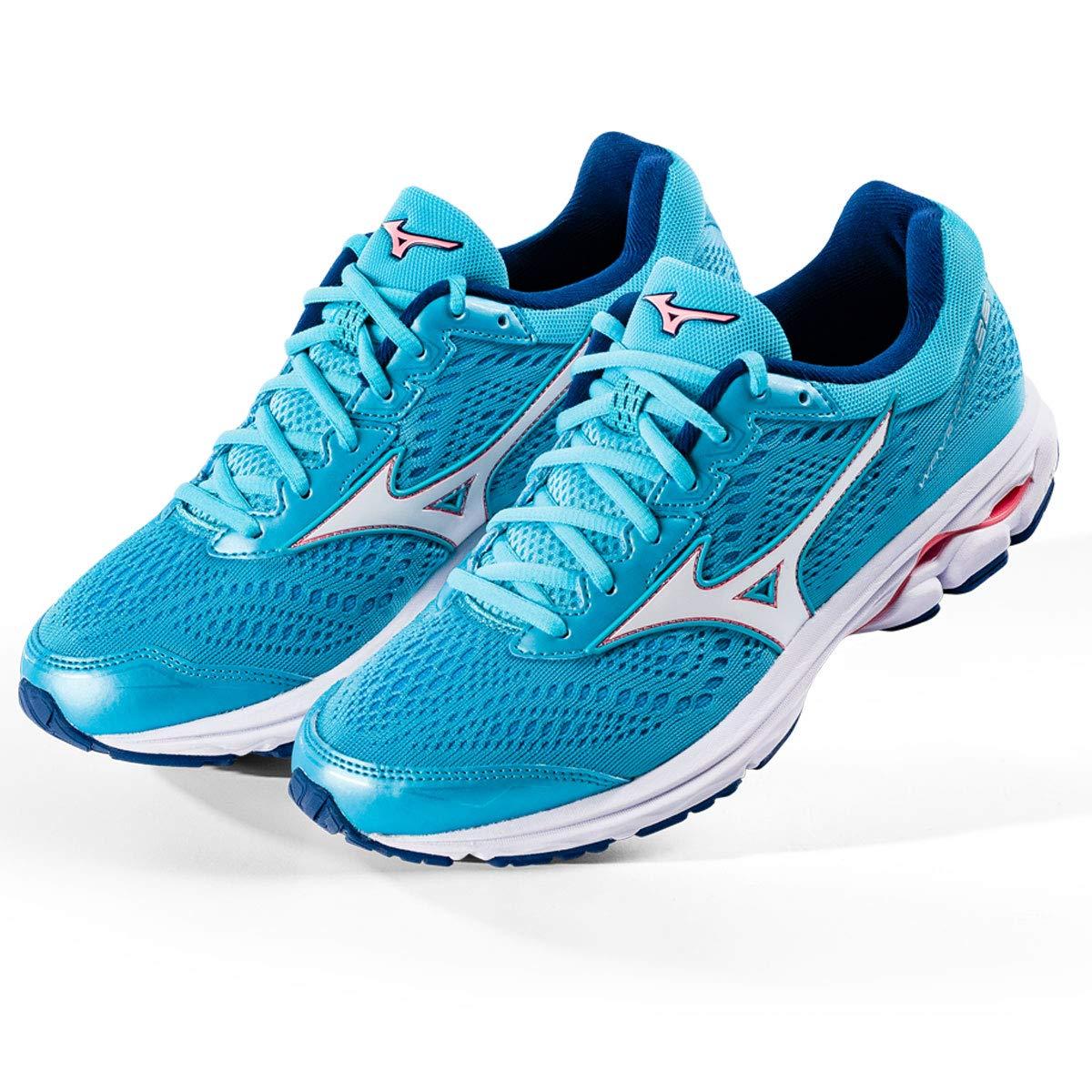 Mizuno Wave Rider 22, Zapatillas de Running para Mujer 41 EU|Azul (Blueatoll/White/Georgiapeach 01)