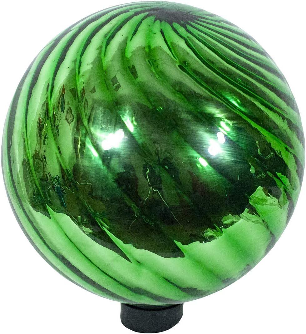 Echo Valley 8201 10 Chrome Swirl Gazing Globe Green