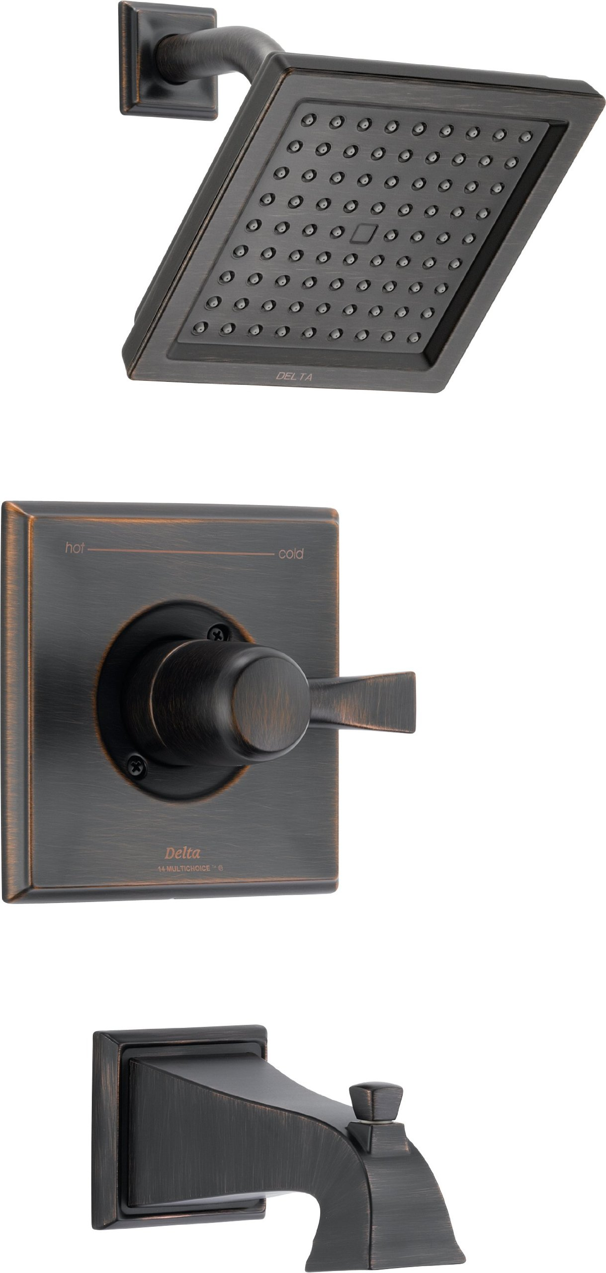Delta T14451-RB Dryden Monitor 14 Series Tub and Shower Trim, Venetian Bronze