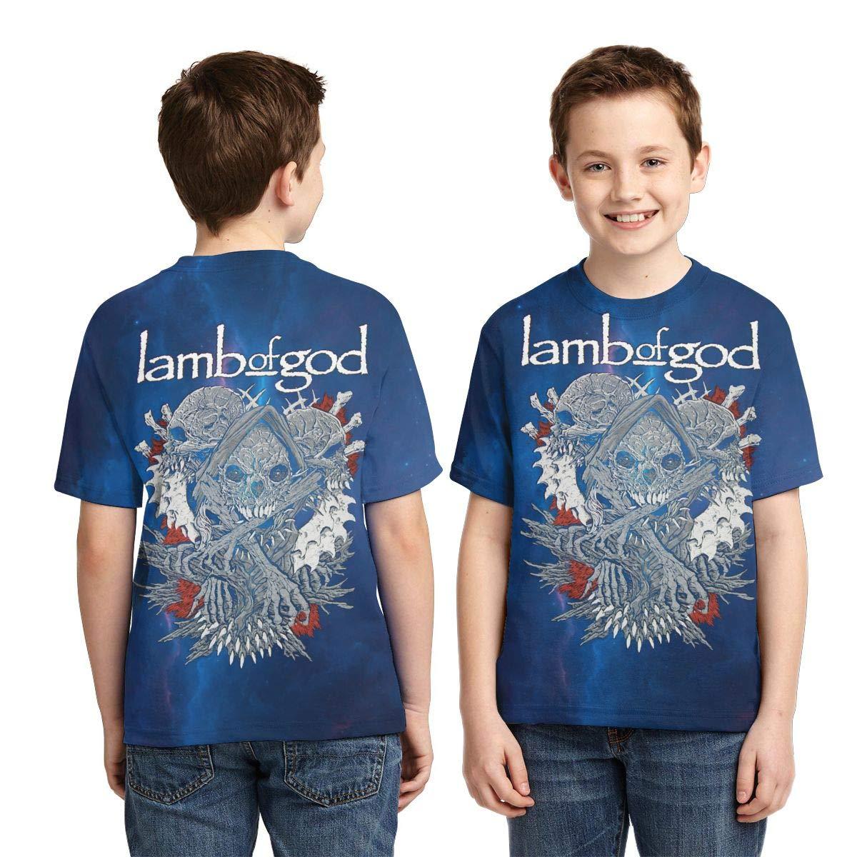 Caiyuzhuanmai Boys,Girls,Youth Lamb God T-Shirt