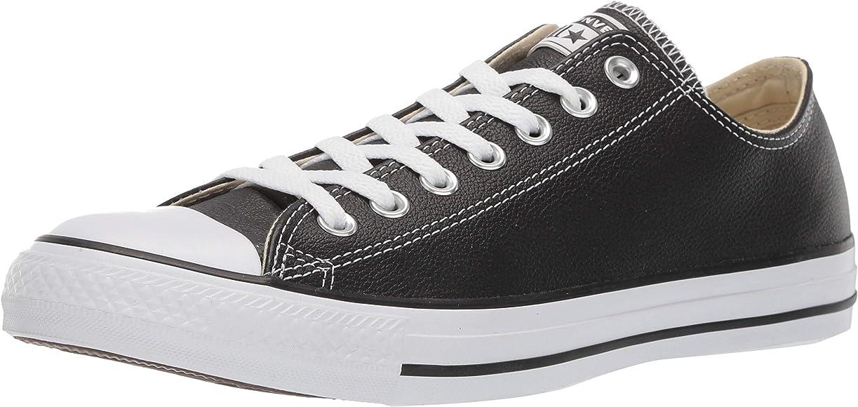 Star Leather Low Top Sneaker, Black