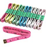 """Blisstime Tailor Sewing Flexible Ruler Tape Measure 60""""150cm 6 Colors Pack of 12"""