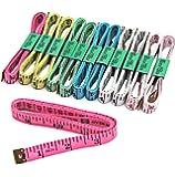 "Blisstime Tailor Sewing Flexible Ruler Tape Measure 60""150cm 6 Colors Pack of 12 (12PCS, Mix)"