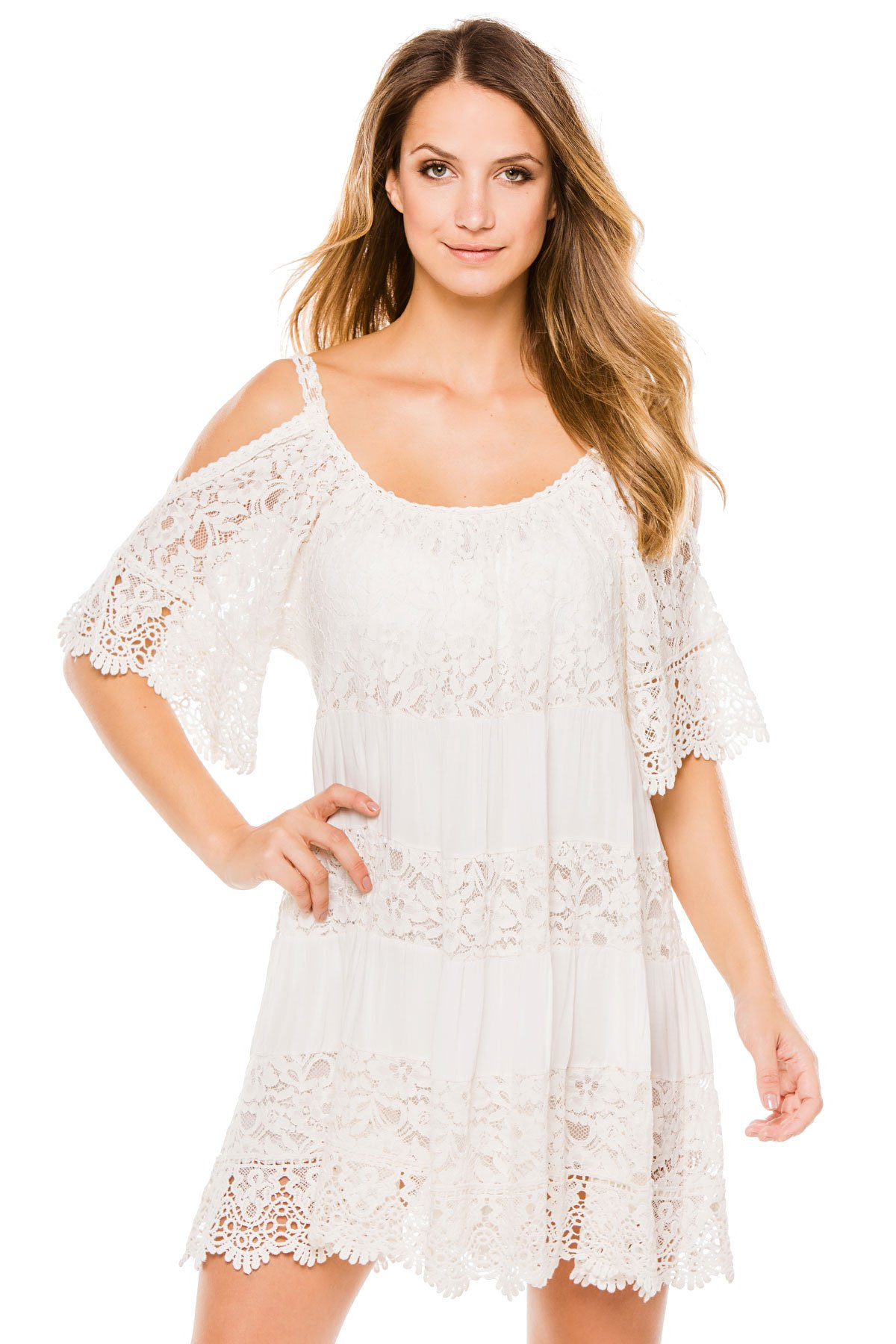 Muche et Muchette Women's Cottons Dress Swim Cover Up White One