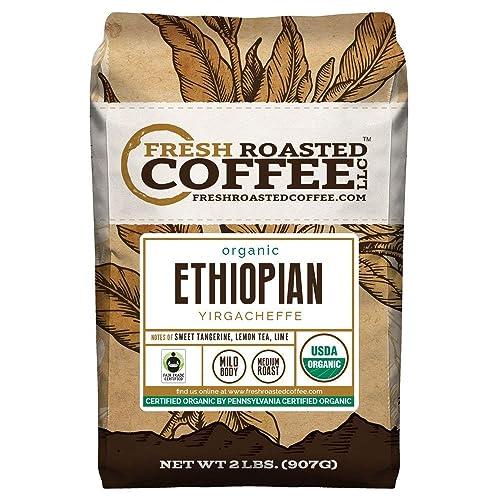 FTO-Ethiopian-Yirgacheffe-Coffee,-Whole-Bean,-Fresh-Roasted-Coffee