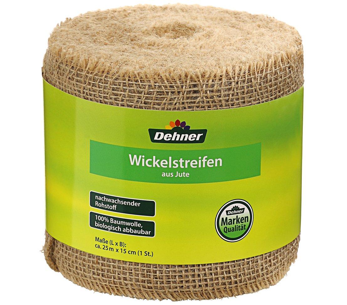 beige /& Windhager Jute-Schnur Jutegarn Bindegarn Bindeschnur Dehner Jute-Wickelstreifen Baumwolle beige 4 mm x 50 m 06158 ca Natur 25 m x 15 cm