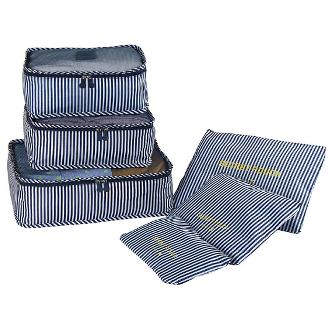La Haute, set de maletas y estuches organizadores para viaje, 6 unidades. Incluye una bolsa de lavandería, un neceser para maquillaje y una bolsa para ...