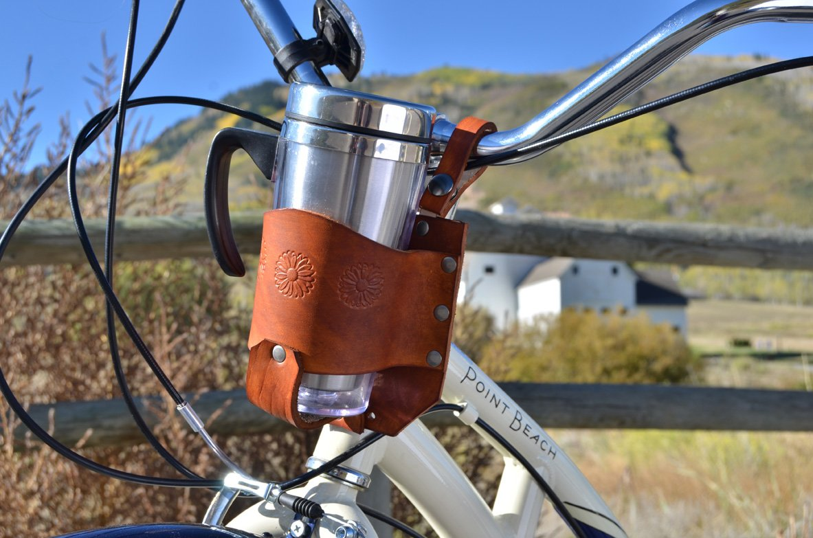Rocky Mountain Holster Personalized Bicycle Cup Holder, Bike Cup Holder, Handle bar Cup Holder, Water Bottle cage