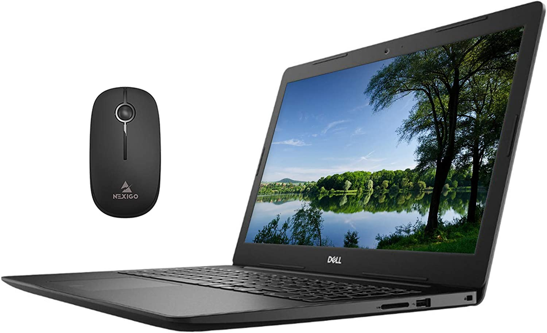 2020 Dell 15 3000 15.6 Inch Touchscreen Laptop, Intel Core i3-1005G1 (Beats i5-7200U), 16GB RAM, 128GB SSD (Boot) + 1TB HDD, WiFi, HDMI, Win10 Pro + NexiGo Wireless Mouse Bundle