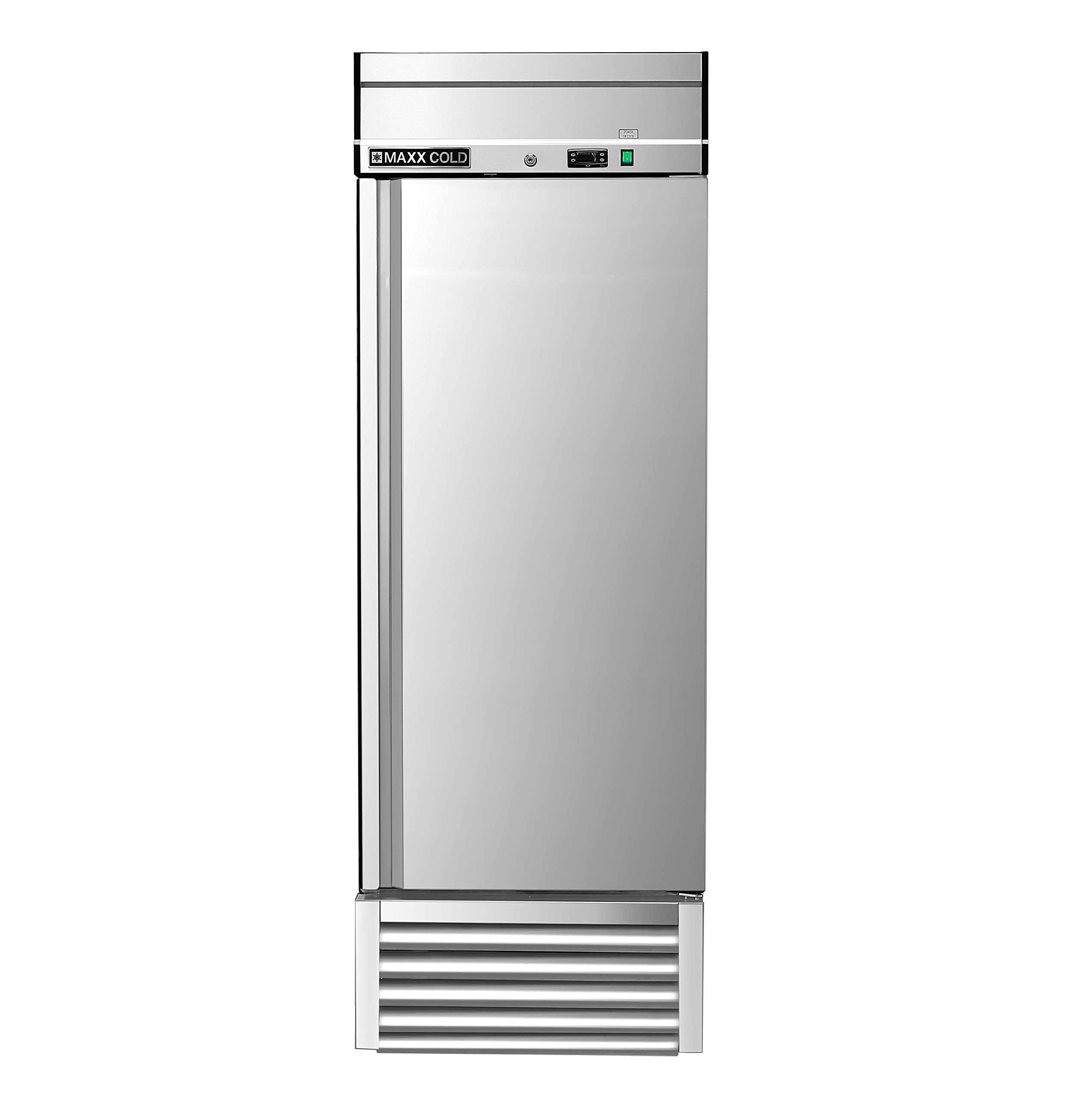 Maxx Cold MXSF-23FD One 1 Door Reach-In Upright Commercial NSF Stainless Steel Freezer