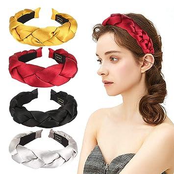 Velvet Braided Headband Women Satin Headband Silver Headband Headwear Knot Hair