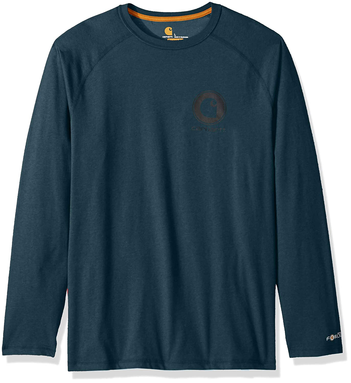 8148ccfd Amazon.com: Carhartt Men's Force Cotton Delmont Long Sleeve Graphic T Shirt:  Clothing