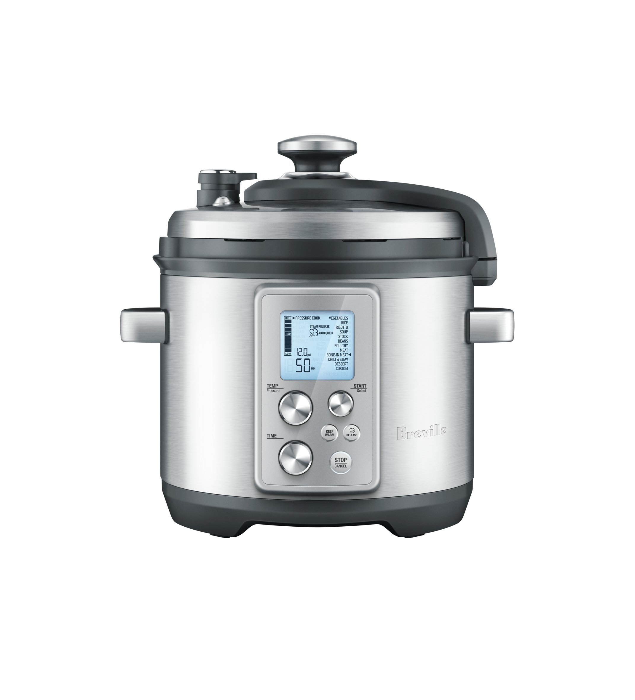 Breville BPR700BSS Fast Slow Pro Multi Function Cooker, Brushed Stainless Steel by Breville