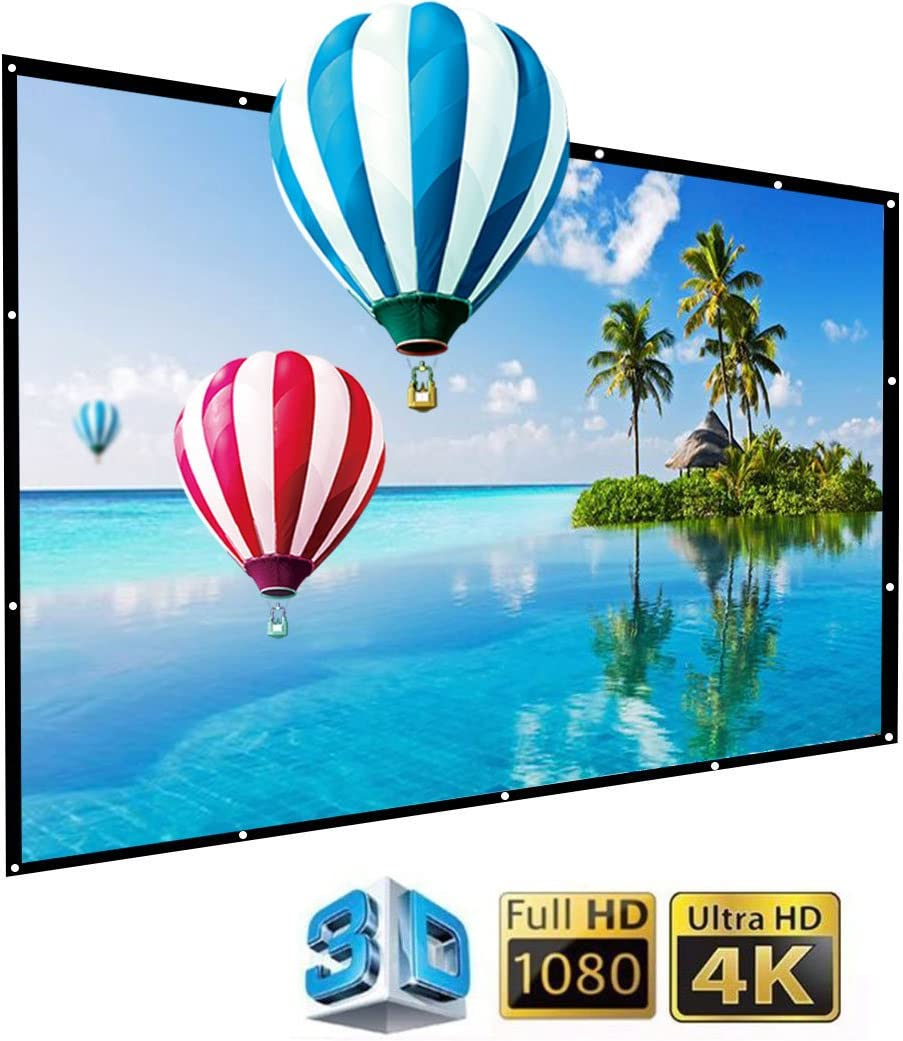 IGREAT 200 inch Portable Outdoor Projector Screen, 16:9 Folding HD Big Size Movie Screen for Home Theater Office Presentation: Office Products