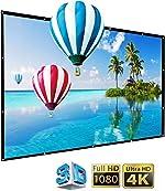 IGREAT 200 inch Portable Outdoor Projector Screen, 16:9 Folding HD Big